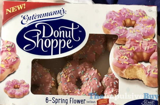 Entenmann s Donut Shoppe Limited Edition Spring Flower Iced Donuts