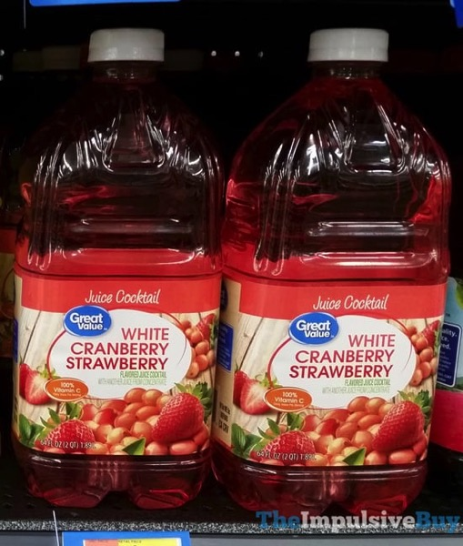 Great Value White Cranberrry Strawberry