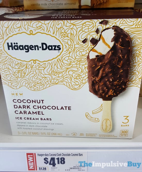 Haagen Dazs Coconut Dark Chocolate Caramel Ice Cream Bars