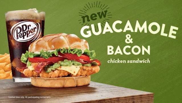 Jack in the Box Guacamole  Bacon Chicken Sandwich