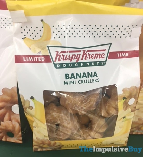 Krispy Kreme Limited Time Banana Mini Crullers