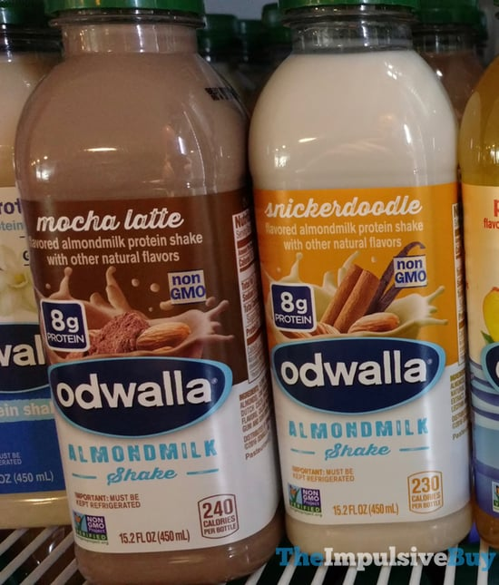 Odwalla Mocha Latte and Snickerdoodle Almondmilk Shake