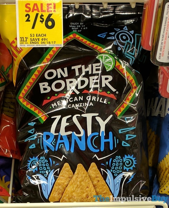 On The Border Zesty Ranch Tortilla Chips