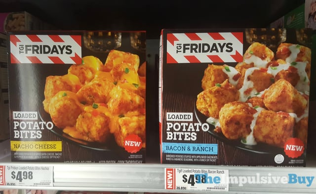 TGI Fridays Nacho Cheese and Bacon  Ranch Loaded Potato Bites
