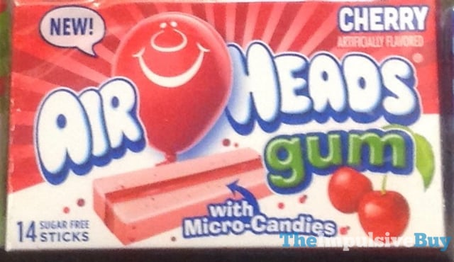 Air Heads Cherry Gum
