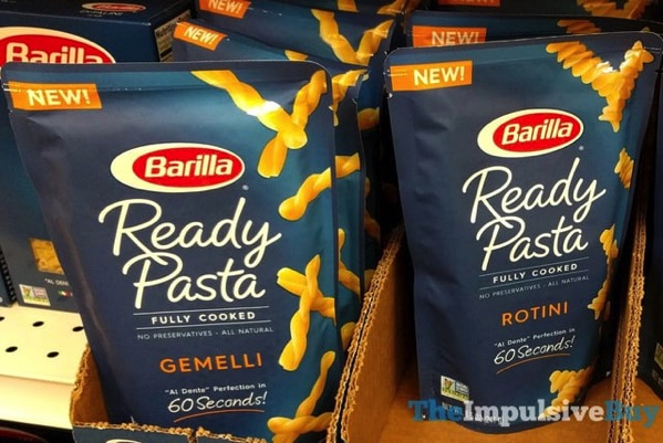 Barilla Gemelli and Rotini Ready Pasta