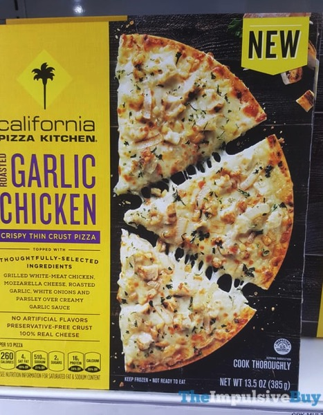 California Pizza Kitchen Roasted Garlic Chicken Crispy Thin Crust Pizza