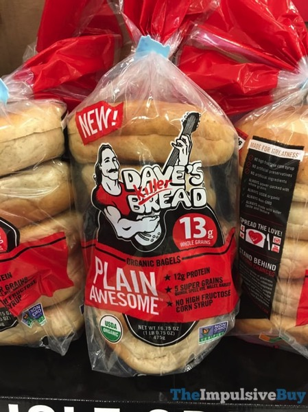 Dave s Killer Bread Plain Awesome Organic Bagels
