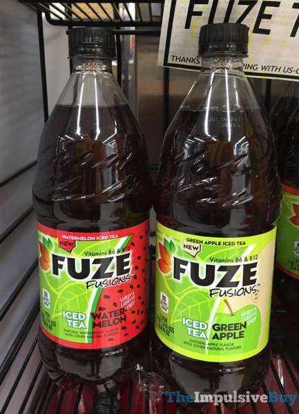 Fuze Fusions  Watermelon Iced Tea and Green Apple Iced Tea