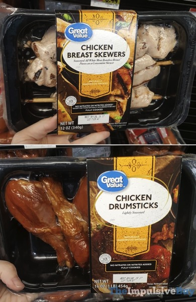Great Value Chicken Breast Skewers and Chicken Drumsticks