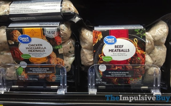 Great Value Chicken Mozzarella Meatballs and Beef Meatballs