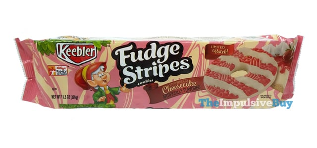 REVIEW Keebler Limited Batch Strawberry Cheesecake Fudge Stripes Cookies