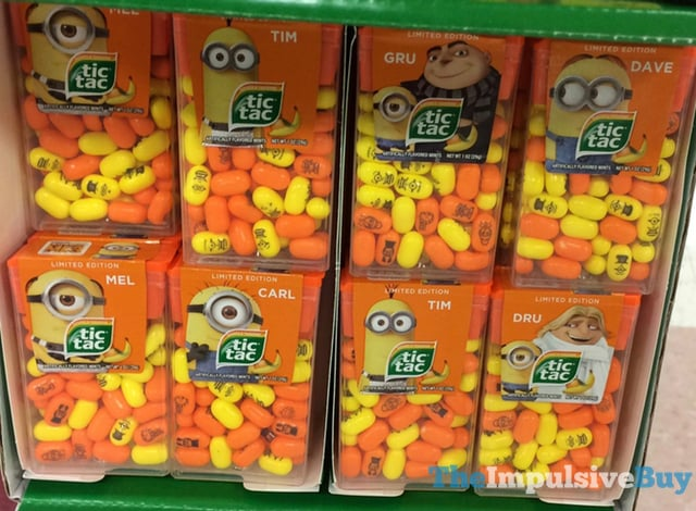 Limited Edition Despicable Me 3 Banana  Tangerine Tic Tac