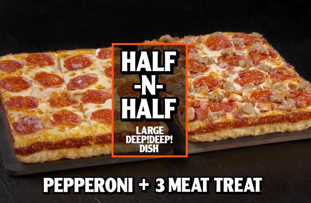 Little Caesars HALF N HALF Deep Dish Pizza