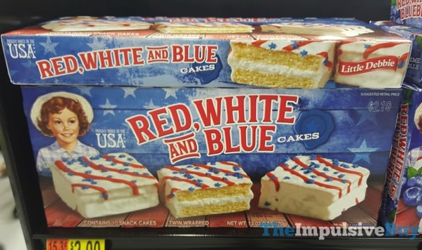 Little Debbie Red White and Blue Cakes