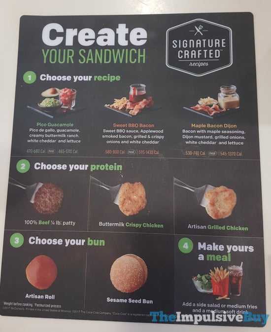 McDonald s Signature Crafted Recipes 2