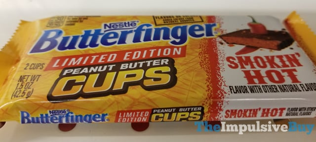 Nestle Limited Edition Smokin Hot Butterfinger Peanut Butter Cups