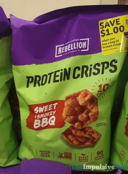 Our Little Rebellion Protein Crisps Sweet  Smokey BBQ