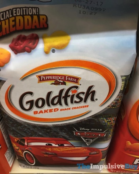 Pepperidge Farm Disney Pixar Cars 3 Goldfish Special Edition Cheddar Crackers