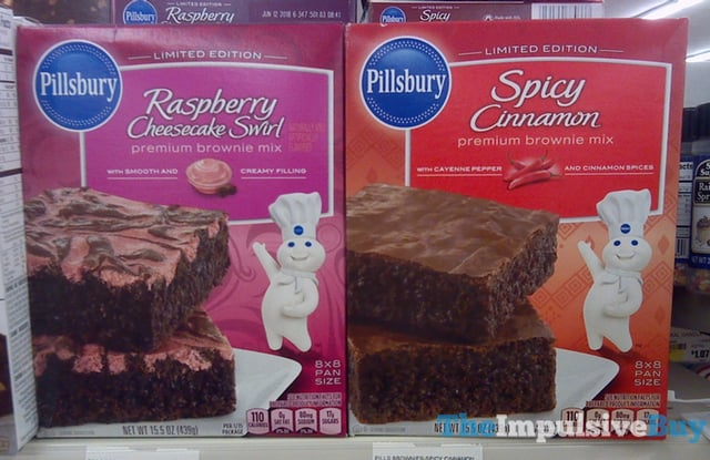 Pillsbury Limited Edition Raspberry Cheesecake Swirl and Spicy Cinnamon Brownie Mixes
