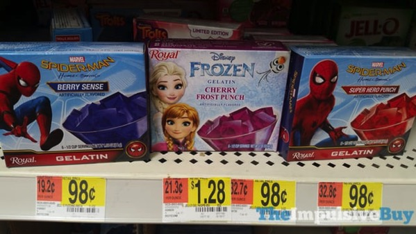 Royal Spider Man Homecoming Berry Sense and Super Hero Punch Gelatin and Disney Frozen Cherry Frost Punch Gelatin
