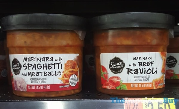 Sam s Choice Spaghetti and Meatballs and Beef Ravioli