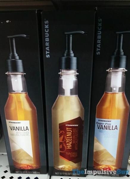 Starbucks Flavored Syrups  Vanilla Hazelnut and Sugar Free Vanilla