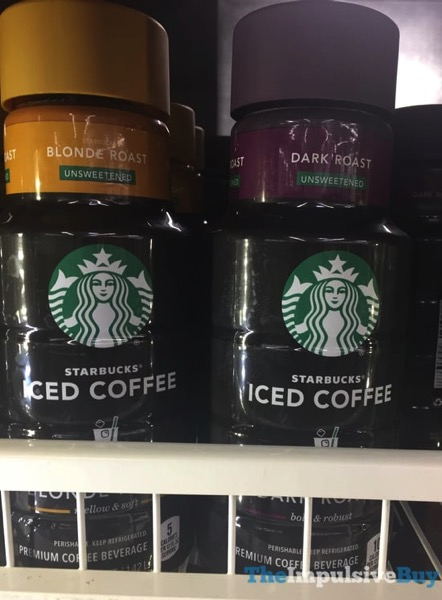 Starbucks Iced Coffee  Unsweetened Blonde Roast and Unsweetened Dark Roast