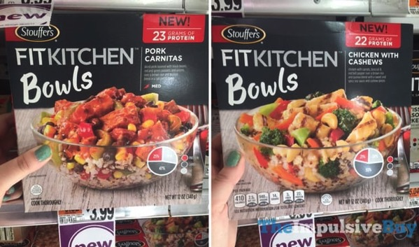 Stouffer s Fit Kitchen Bowls  Pork Carnitas and Chicken with Cashews
