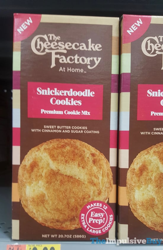 The Cheesecake Factory At Home Snickerdoole Cookies Mix