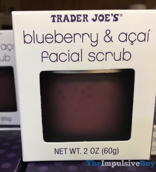 Trader Joe s Blueberry  Acai Facial Scrub