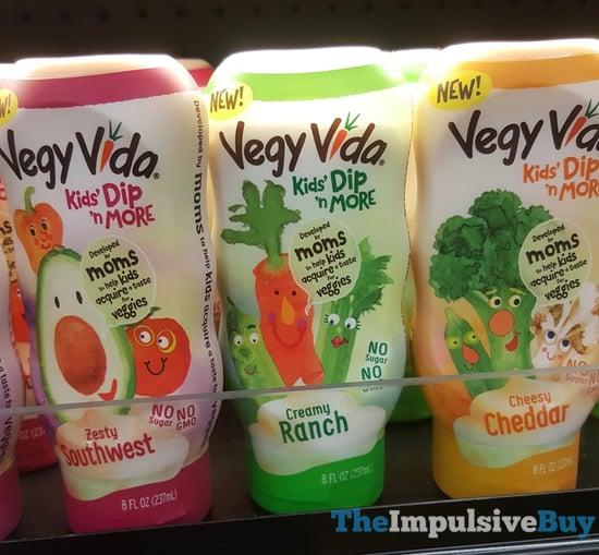 Vegy Vida Kids Dip  n More  Zesty Southwest Creamy Ranch and Cheesy Cheddar