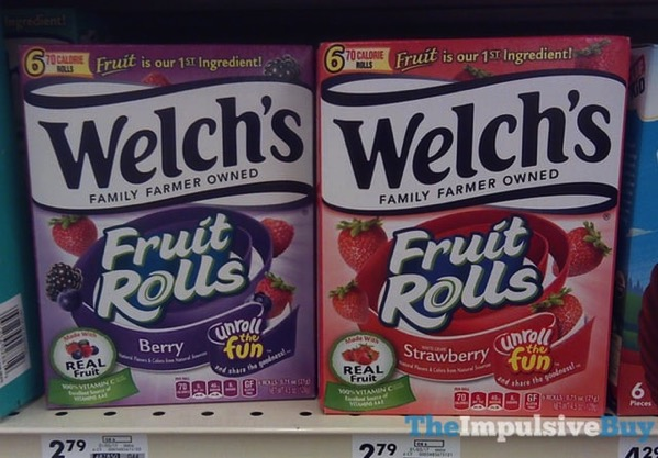 Welch s Berry and Strawberry Fruit Rolls