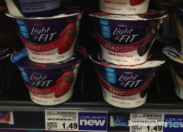 Dannon Light  Fit Zero Greek Yogurt  Strawberry and Black Cherry