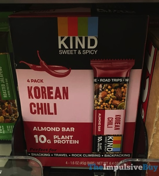 Kind Sweet  Spicy Korean Chili Almond Bar