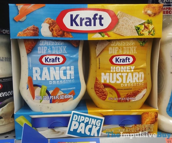 Kraft Dipping Pack  Ranch and Honey Mustard