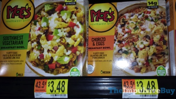 Moe s Southwest Grill Southwest Vegetarian and Chorizo  Eggs Breakfast Bowls