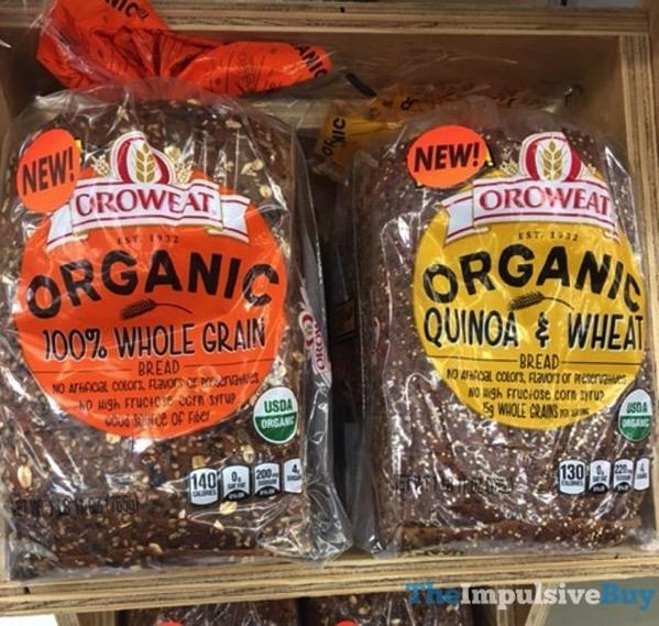 Oroweat Organic 100 Whole Grain and Quinoa  Wheat Breads