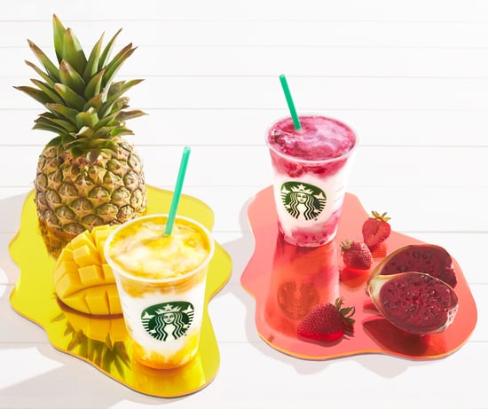 Starbucks Berry Prickly Pear and Mango Pineapple Frappuccino