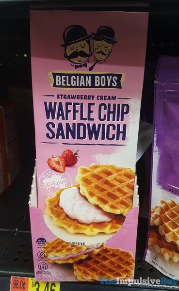Belgian Boys Strawberry Cream Waffle Chip Sandwich