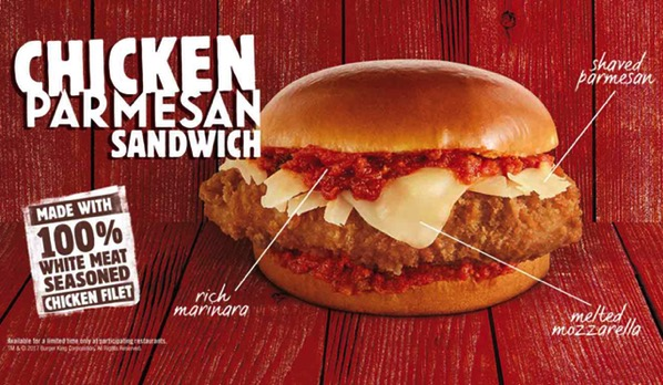 Burger King Chicken Parmesan Sandwich 2017