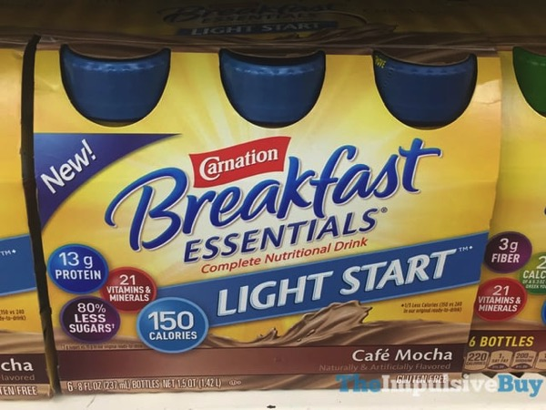 Carnation Breakfast Essentials Light Start Cafe Mocha