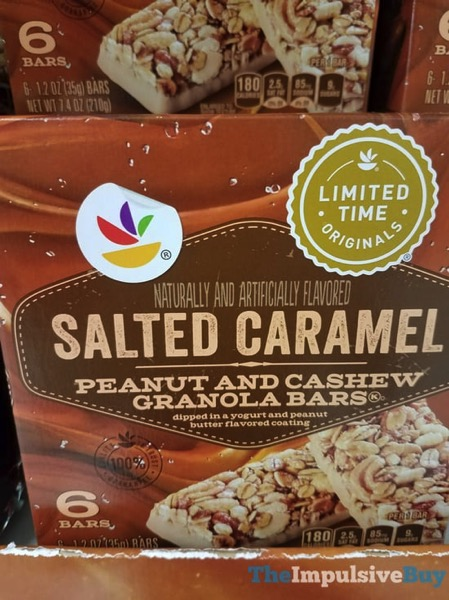 Giant Limited Time Originals Salted Caramel Peanut and Cashew Granola Bars