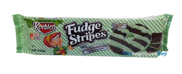 Keebler Limited Batch Dark Chocolate Mint Fudge Stripes Cookies