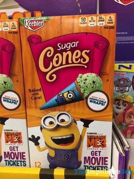 Keebler Sugar Cones with Despicable Wraps
