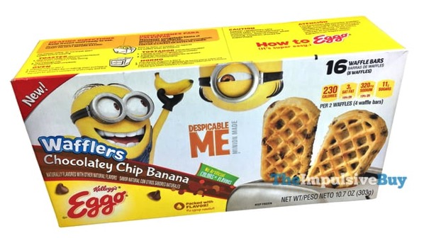 Kellogg s Despicable Me Chocolatey Chip Banana Eggo Wafflers