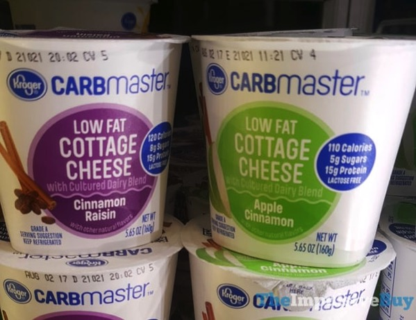 Kroger Carbmaster Low Fat Cottage Cheese Cinnamon Raisin and Apple Cinnamon