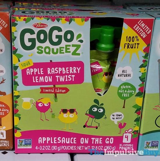 Materne Go Go Squeez Limited Edition Sour Apple Raspberry Lemon Twist Applesauce on the Go