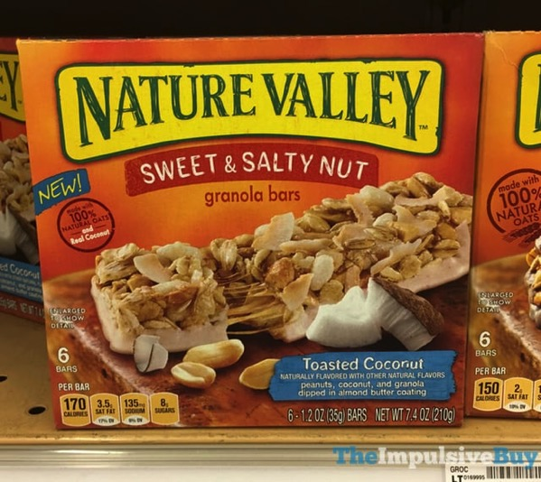 Nature Valley Toasted Coconut Sweet  Salty Nut Granola Bars