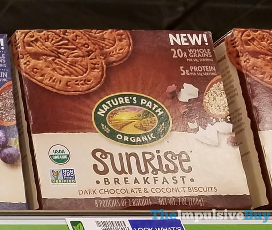 Nature s Path Sunrise Breakfast Dark Chocolate  Coconut Biscuits